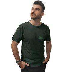 camiseta cellos box logo premium verde militar - kanui