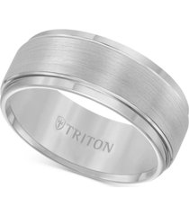 triton men's ring, tungsten carbide comfort fit wedding band 9mm band