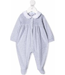 siola textured panel stretch-cotton pajama - grey