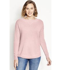 cashmere boatneck sweater, snow, x large