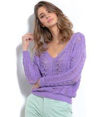 sweter ażurkowy f1000