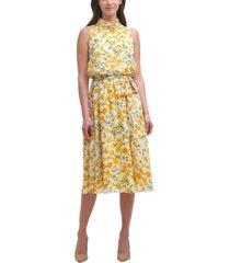 harper rose printed tie-waist dress
