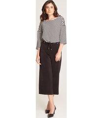 pantalón culotte cordón negro 10