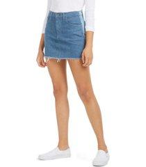 hudson jeans two-tone denim skirt