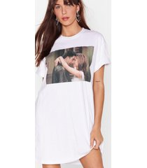womens ross and rachel 5 eva graphic tee dress - white