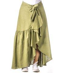 falda larga verde cosmos