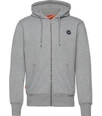 collective zip hood hoodie trui grijs superdry
