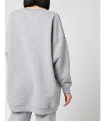 ganni women's software isoli oversized sweatshirt - paloma melange - l/xl