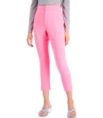 bar iii high-waist cropped pants, created for macy's