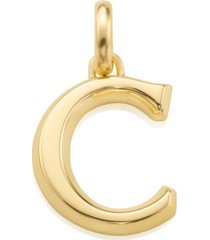 alphabet pendant c, gold vermeil on silver
