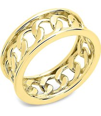 sterling forever women's 14k gold vermeil curb chain band ring/size 8 - size 8