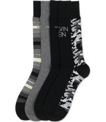 calvin klein mens 4-pk. assorted dress crew socks