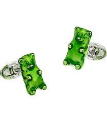 saks fifth avenue men's stering silver gummy bear cufflinks