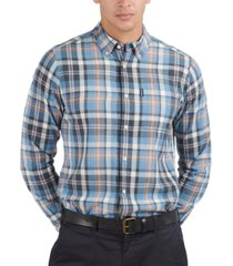 barbour men's madras plaid shirt