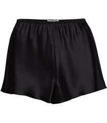 pure silk - french knickers shorts svart lady avenue