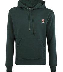 ami alexandre mattiussi embroidered logo hoodie