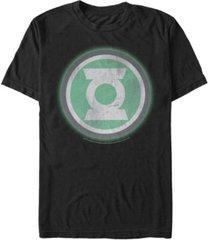 fifth sun dc men's green lantern distressed glowing logo short sleeve t-shirt