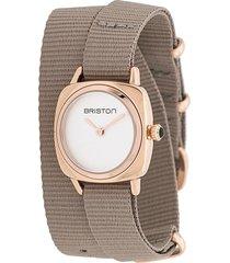 briston watches clubmaster lady wrap watch - neutrals