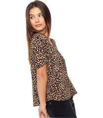 blusa animal print asterisco arietta