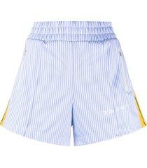 palm angels vertical-stripe shorts - blue