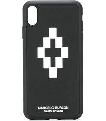 marcelo burlon county of milan 3d cross iphone xs max case - black