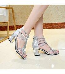 nuevas sandalias de plataforma informal peep toe para mujer chunky