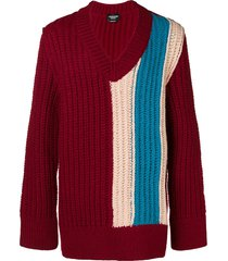 calvin klein 205w39nyc oversized chunky stripe sweater - red
