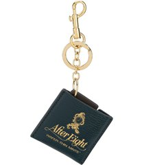 anya hindmarch after eight key chain - green