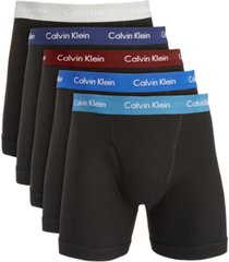 calvin klein men's 5-pk. cotton classics boxer briefs