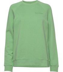 m urban crew sweat-shirt trui groen peak performance