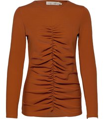 camlyiw blouse t-shirts & tops long-sleeved bruin inwear
