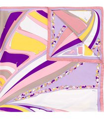 emilio pucci abstract print scarf - purple