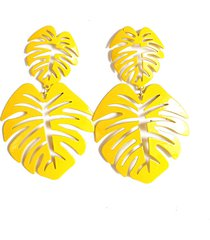 aretes mujer  tropicales amarillo amme