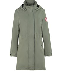 canada goose belcarra technical fabric hooded jacket
