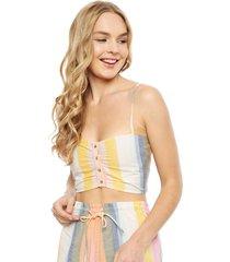blusa billabong s/m multicolor - calce ajustado