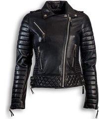 dames chinco leren bikerjas delore zwart
