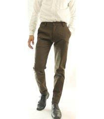 pantalón casual dril elástico slim aranzazu epsilon café