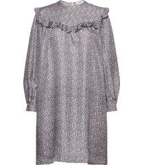 satine dress kort klänning lila nué notes