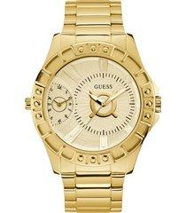 reloj chrome dorado guess