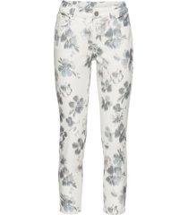 pantaloni cropped a fiori (bianco) - rainbow