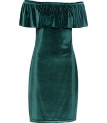 abito in  velluto con spalle scoperte (verde) - bodyflirt