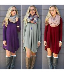 dress autumn fashion clothes winter dress female cotton o-neck long sleeve mini