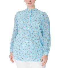 anne klein plus size printed poet blouse
