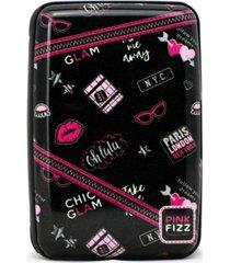 pink fizz rfid blocking wallet / card holder