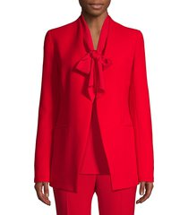 lafayette 148 new york women's miranda crepe blazer - red - size 4