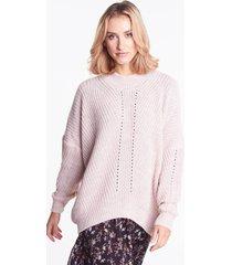 różowy sweter oversize tiffany