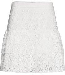 kacey skirt kort kjol vit by malina