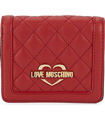 logo quilted bi-fold wallet