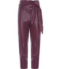 calça feminina juliana cherry - vermelho