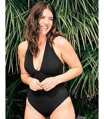icon adelaide plunge strappy back shaping one-piece swimsuit